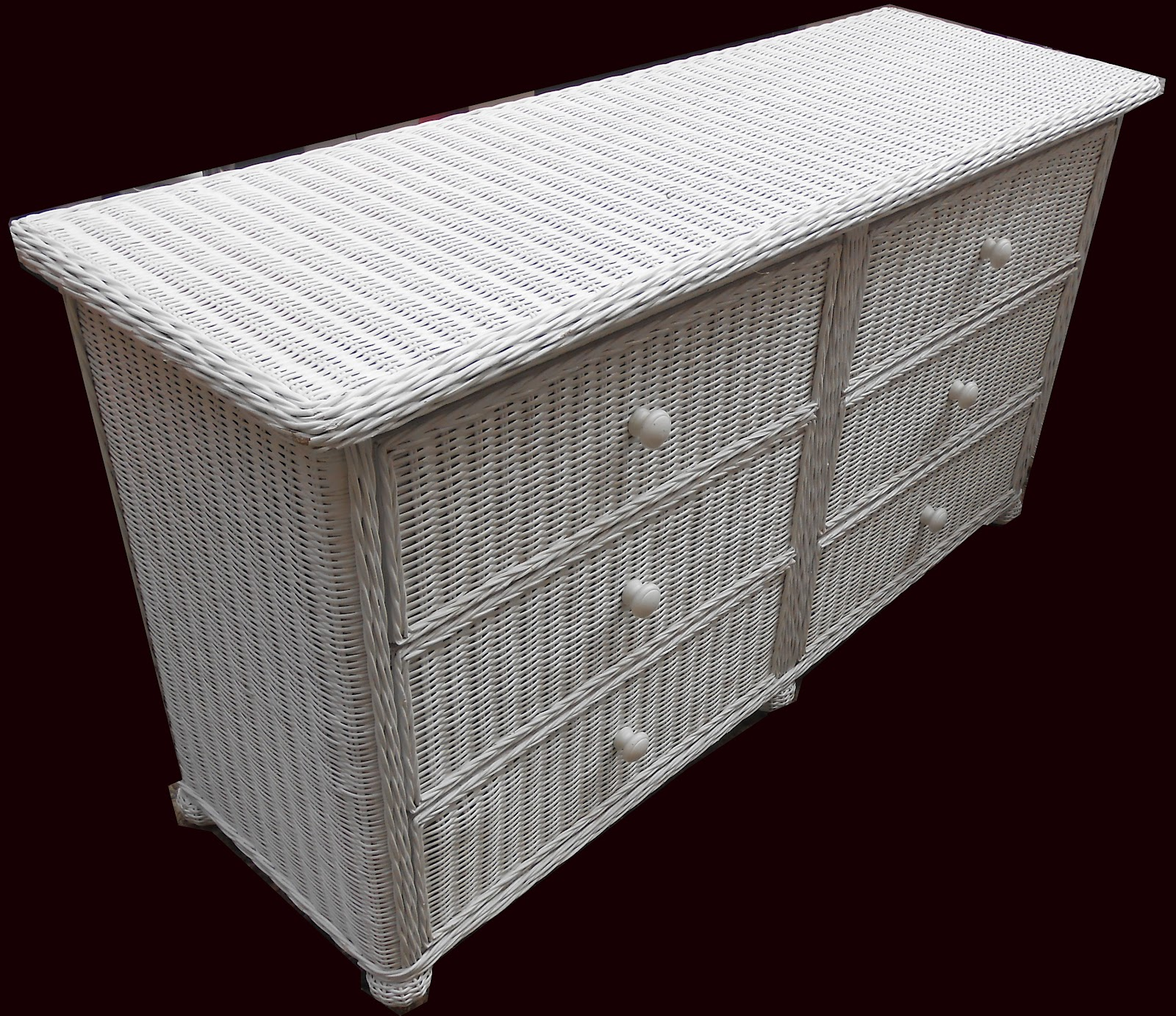 uhuru furniture collectibles 3 piece white wicker 13869 | wickerdresser