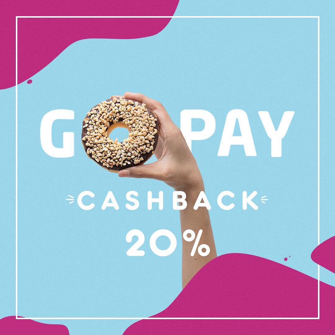 #DunkinDonusts - #Promo Cashback 20% Pembayaran Pakai GOPAY