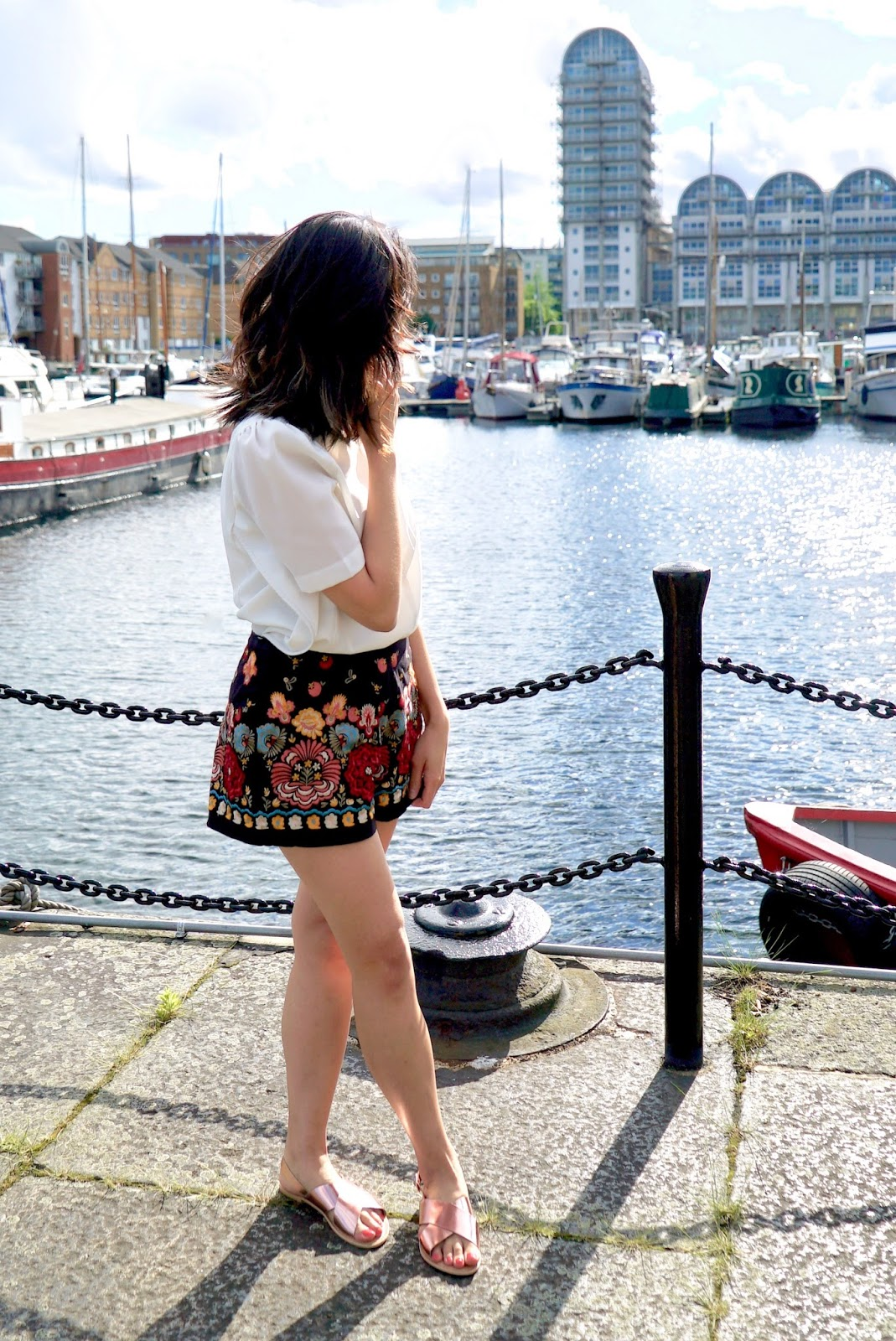 Black EMBROIDERED SHORTS debenhams