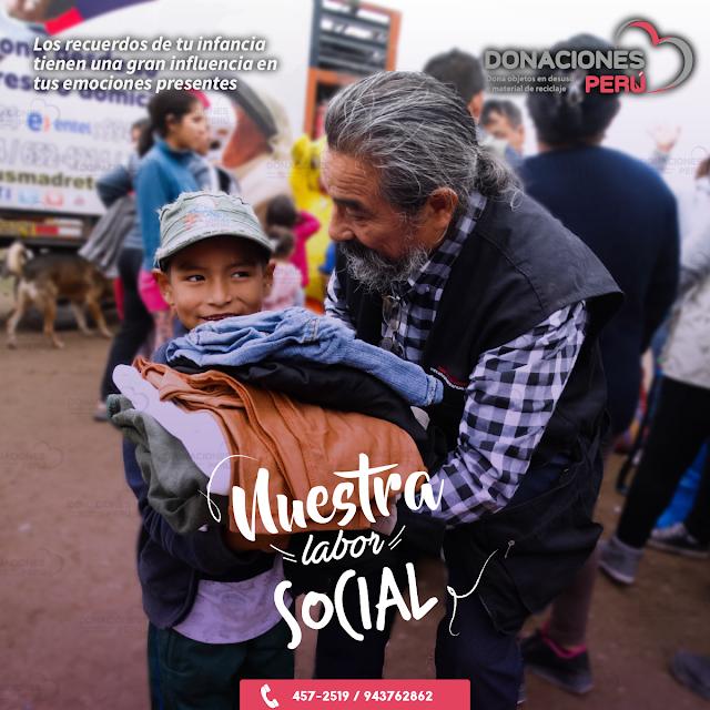 Labor Social - Apoyo Social - Dona y recicla - Recicla y Dona -Donaciones Perú