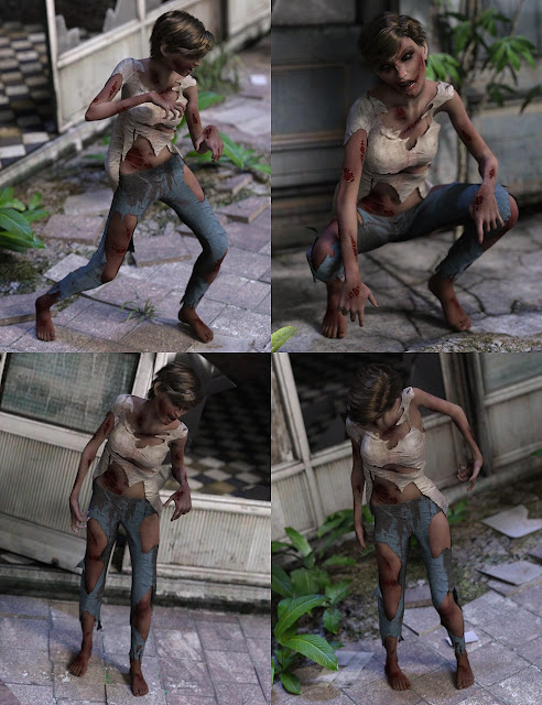 Zombie Hoard Poses