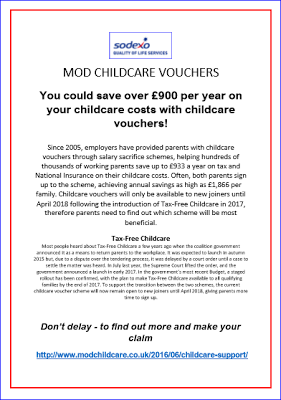 receiving help with childcare costs from employers Tax-free childcare is a government scheme that pays 20% of childcare costs up to a maximum of £2000 each year the scheme is open to all parents of children under 12 (or under 17 if disabled) you can apply to open a tax-free childcare account online.