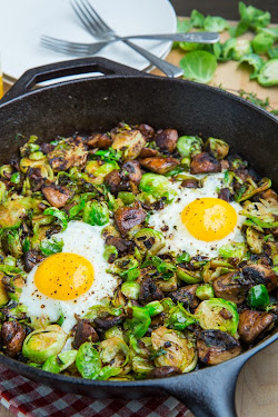 Brussels Sprout and Mushroom Hash
