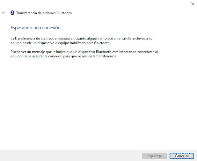 No me pueden transferir archivos por Bluetooth