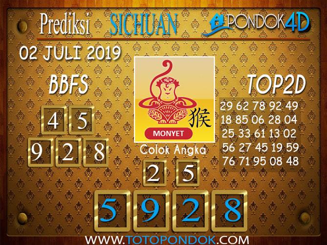 Prediksi Togel SICHUAN PONDOK4D 02  JULI  2019