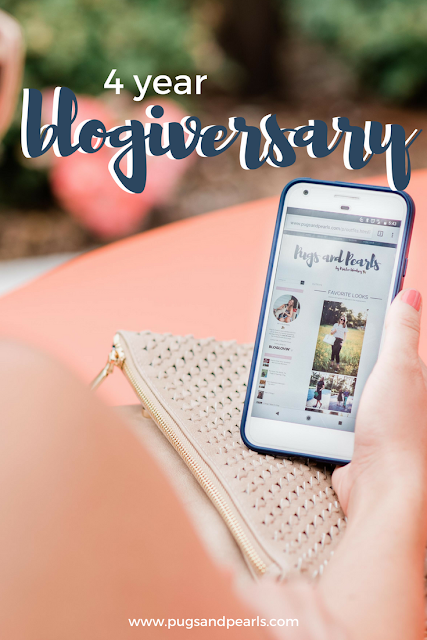 4 Year Blogiversary! // Pugs & Pearls Blog