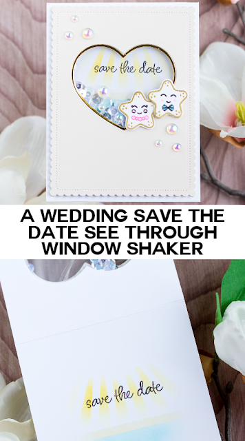 Save The Date See Through Window Shaker for Studio Katia by ilovedoingallthingscrafty.com