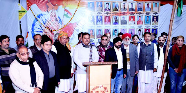 Former MLA Chandra Bhatia organizes Sridevanjali Sabha in memory of soldiers martyred in Pulwama