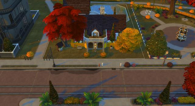 exterior de una casa en los sims 4
