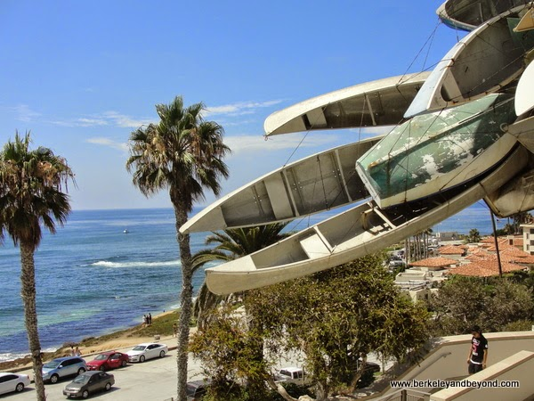 view from Museum of Contemporary Art San Diego in La Jolla, California
