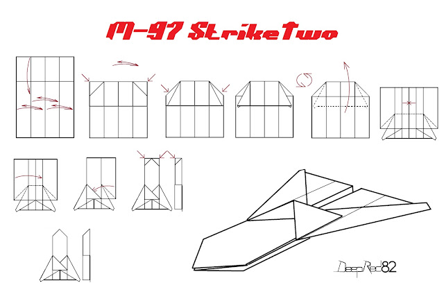 Avión de papel M-97 StrikeTwo