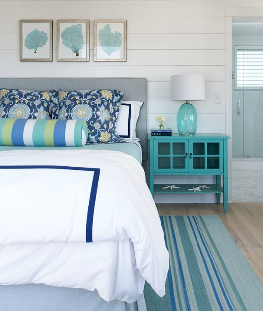 completely coastal turquoise decor ideas for the bedroom