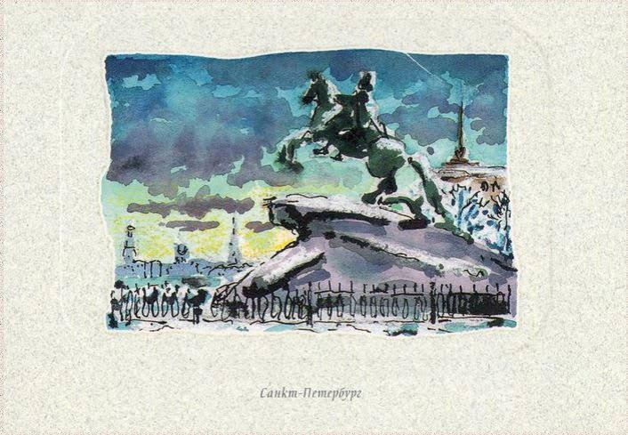 медный всадник открытки санкт-петербург использовать каждый цвет