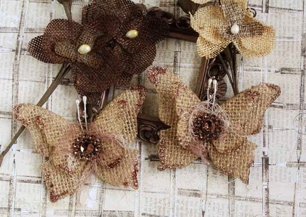 burlap flower template - angelicascrappenings burlap butterfly tutorial