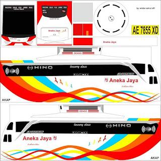 Download Livery Bus Aneka Jaya