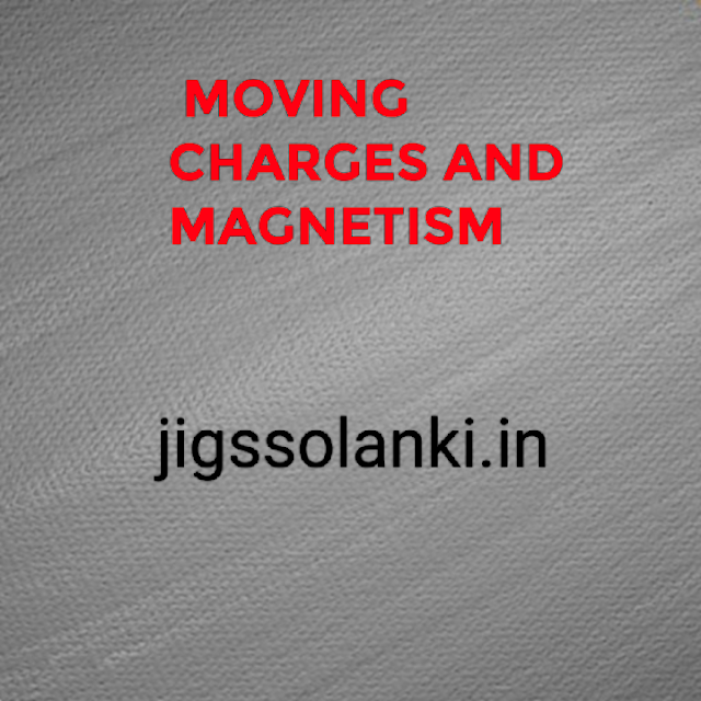 CLASS 12 PHYSICS:- MOVING CHARGES AND MAGNETISM NOTES