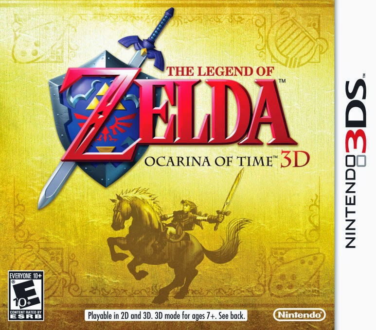 3DS The Legend of Zelda - Ocarina of Time 3D Cover