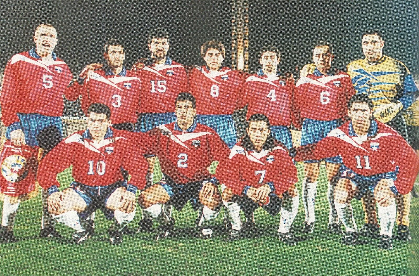 Formación de Chile ante Uruguay, Clasificatorias Francia 1998, 20 de agosto de 1997