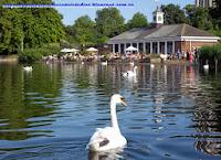 Lago Serpentine, en Hyde Park.