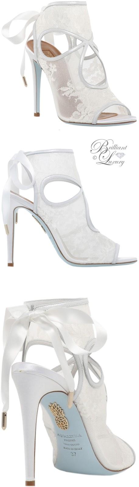 Brilliant Luxury ♦ Aquazzura Sexy Thing Bridal Sandals