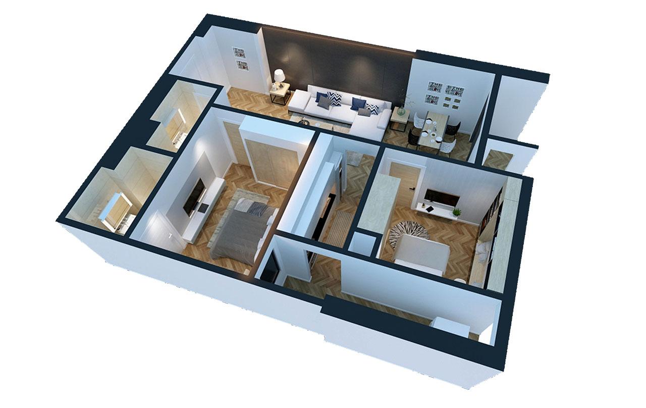 Mặt bằng căn hộ chung cư GoldSilk Residence