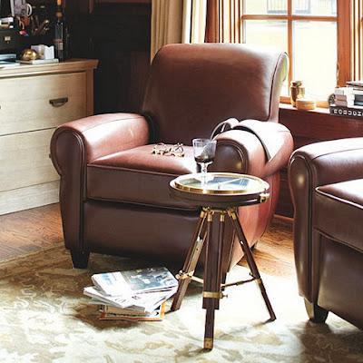 Outstanding Pottery Barn Manhattan Leather Chair And Ottoman Decor Short Links Chair Design For Home Short Linksinfo