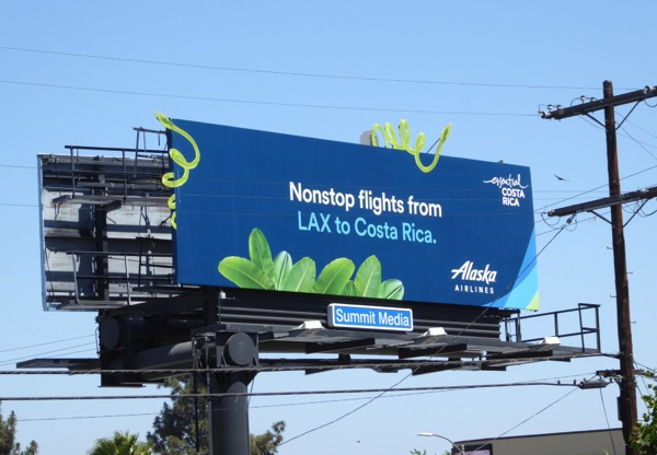 Alaska Airlines LAX Costa Rica special extension billboard