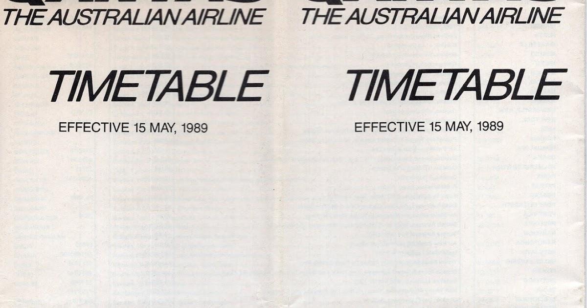 Airline memorabilia: Qantas (1989)