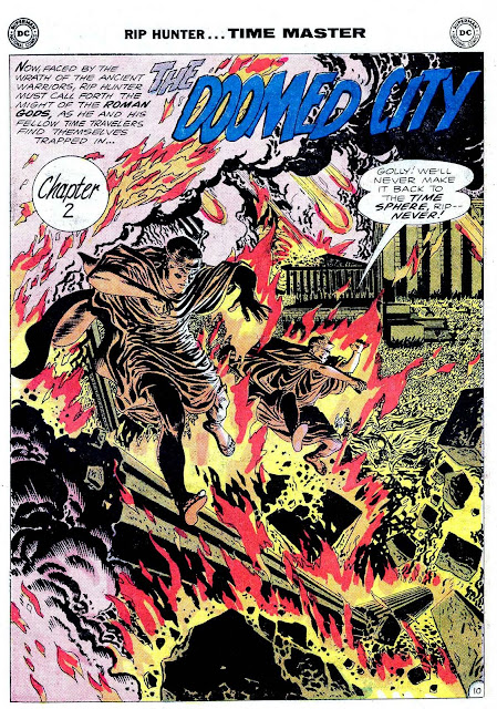 Rip Hunter Time Master v1 #6 dc silver age 1960s comic book page art by Alex Toth