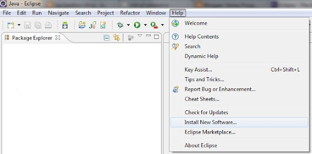 Eclipse New  Software Install