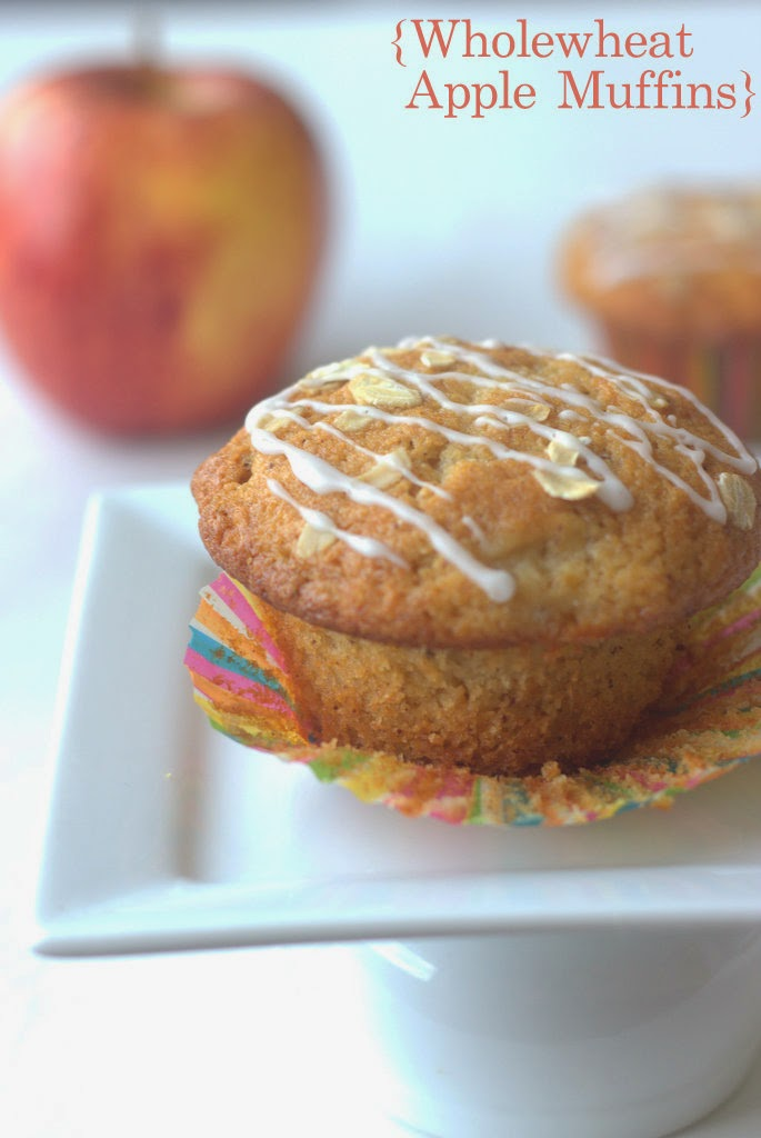 apple muffins, wholewheat muffins, muffins, apple cinnamon muffins, king arthur flour recipes