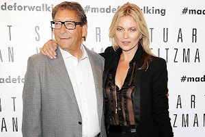 photos: Kate Moss on the opening of the Stuart Weitzman boutique in Milan