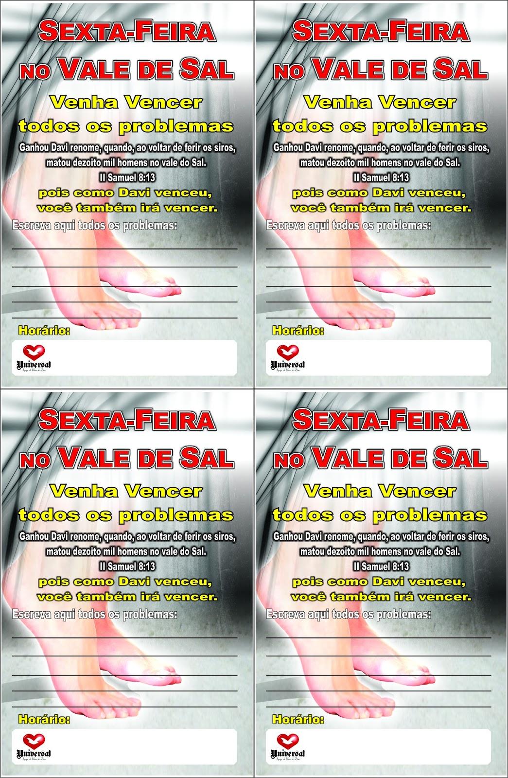 FOLHETO SEXTA-FEIRA NO VALE DE SAL | IMPACTO DA FÉ