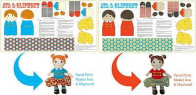 Ava & Oliphont Fabric Panel - Backyard Circus by Jodie Carleton
