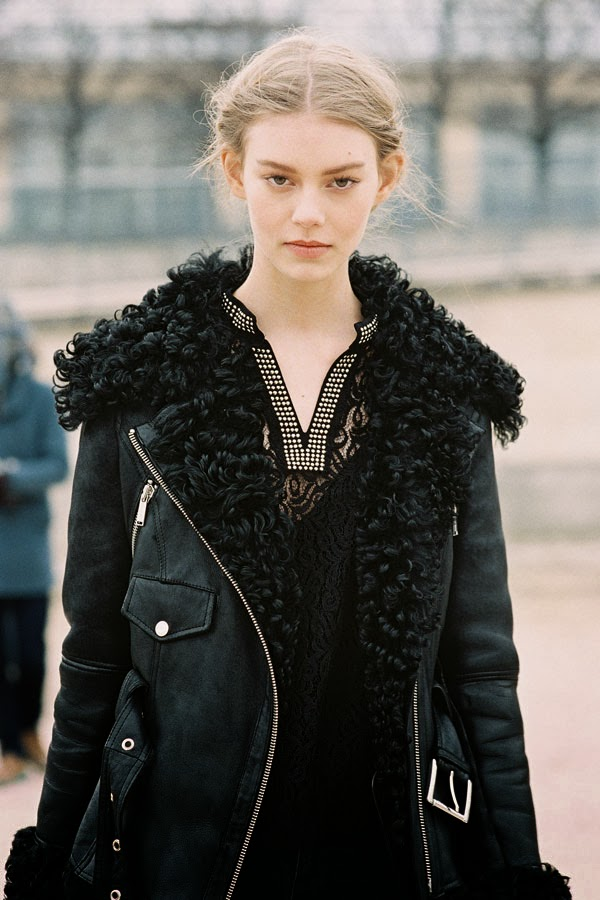 Ondria Hardin Is A Luxe Vision For Vogue Russia By Mariano: Vanessa Jackman: Paris Fashion Week AW 2013....Ondria