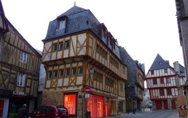 Casas de entramados de madera de Vannes.
