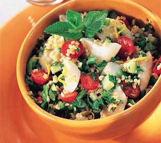 Bulgur and Fish Salad with Lemon Dressing Recipe
