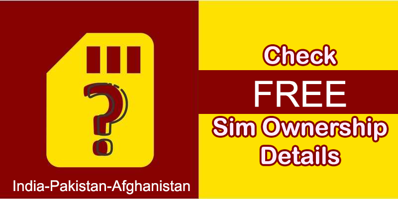 Sim Database Online Track any Mobile Number in Pakistan