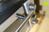 Türgriff: Andrew James – 23 Liter Mini Ofen und Grill mit 2 Kochplatten in Schwarz – 2900 Watt – 2 Jahre Garantie