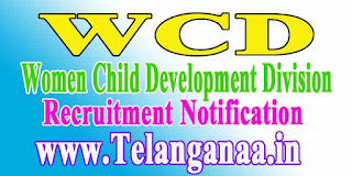 WCD (Women  Child Development Department) Recruitment Notification 2016
