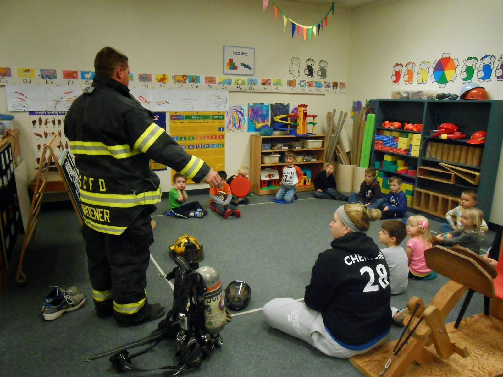 Hesston College Preschool Fire Safety Week