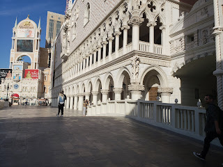 Doge's Palace-inspired building facade at the Palazzo and The Venetian in Las Vegas Nevada