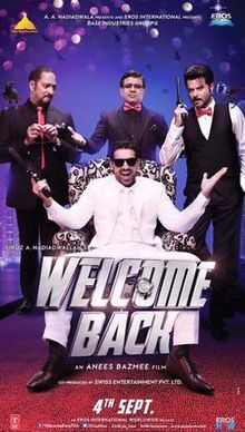 bollywood movie Welcome Back full casta and crew wiki, budget, poster, John Abraham, Naseeruddin Shah, Welcome Back first look pics, wallpaper