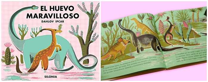 cuento dinosaurios álbum ilustrado niños, el huevo maravilloso