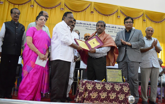 Trichy District Collector Shri.K.Rajamani presents Ozone -Kalam Awards .