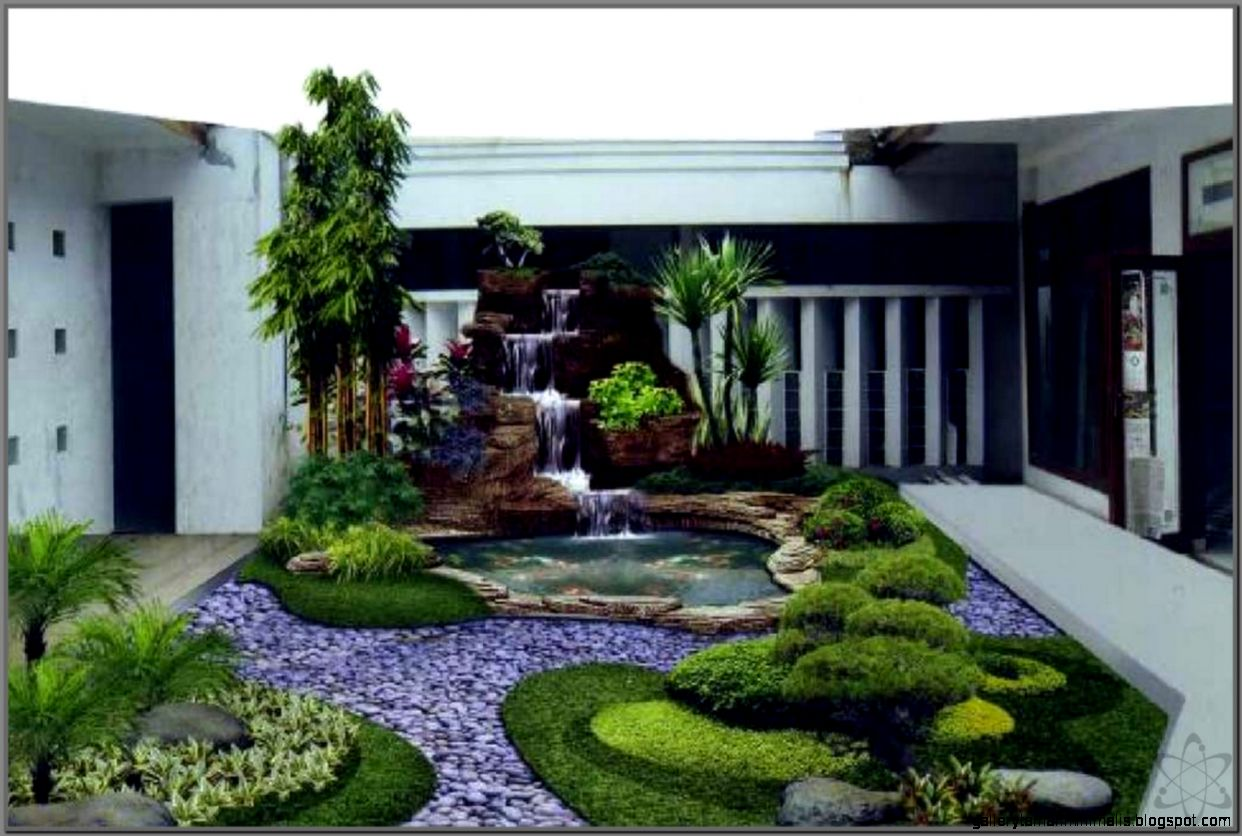 Gambar Air Mancur Taman Rumah Minimalis Destaman