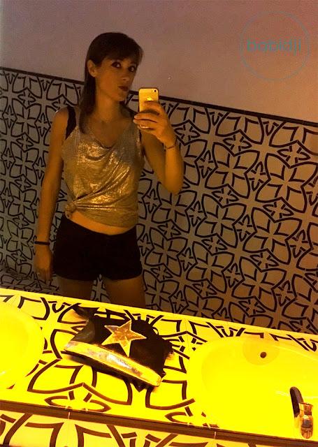 le traditionnel selfie dans les chiottes du Pacha à Ibiza