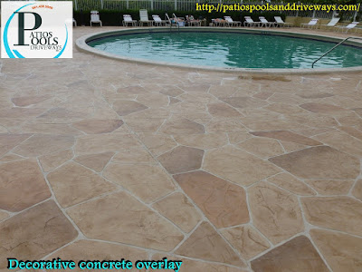 #decorativeconcrete #decorativeoverlay #concrete #pooldeck #commercial