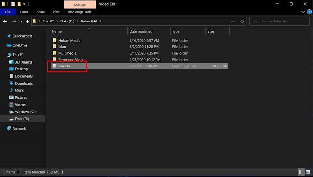 Cara Mudah Membuat File ISO