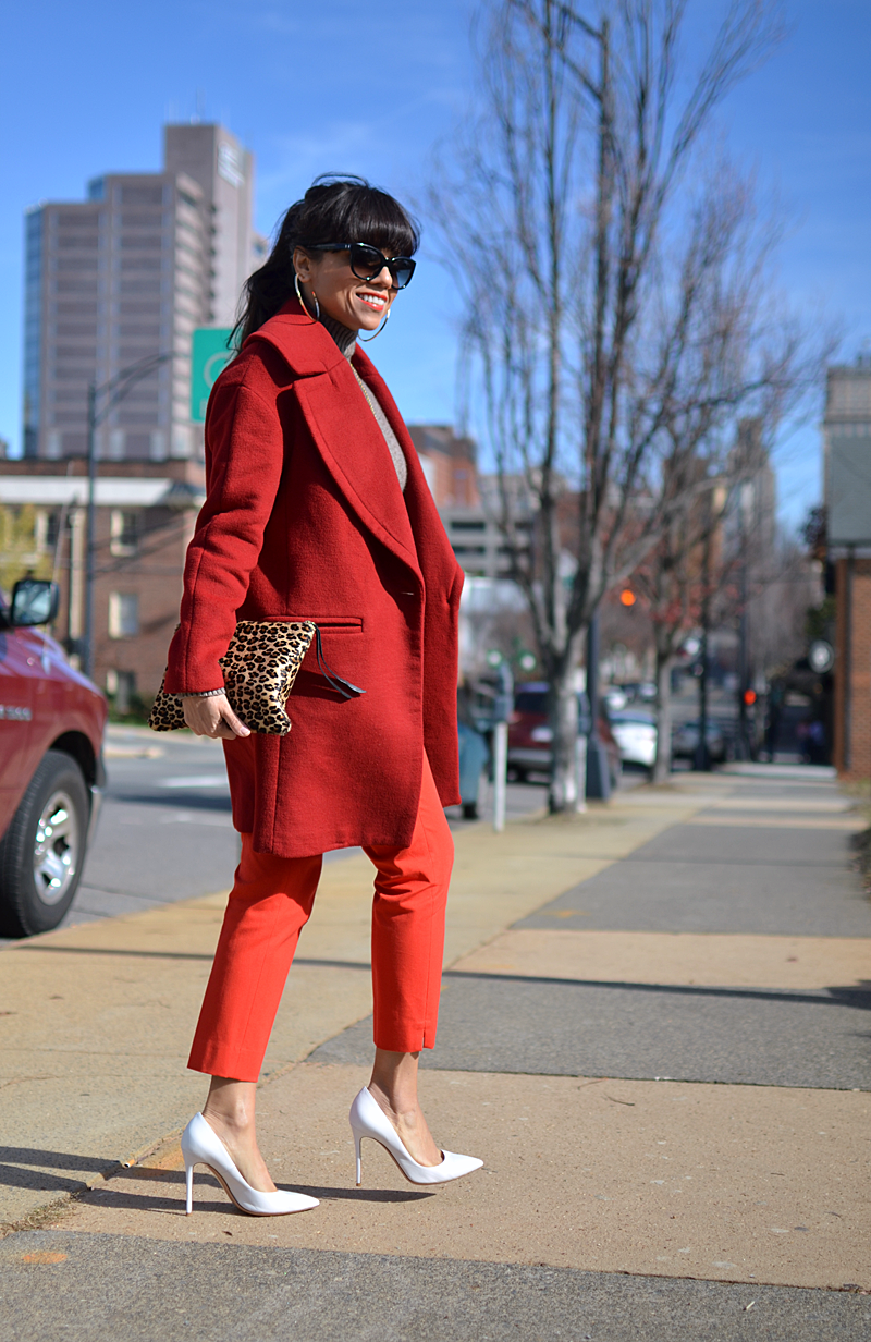 Color block street style outfit